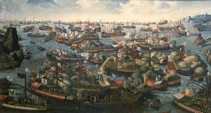 Войны Турции и Кипра - битва при Лепанто