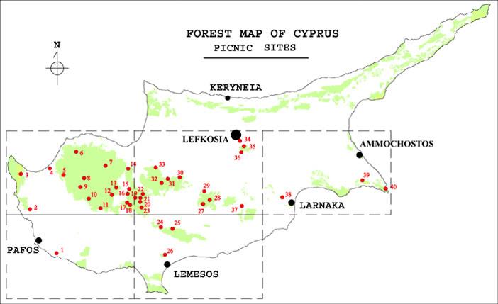 Кемпинги и места для пикника на Кипре