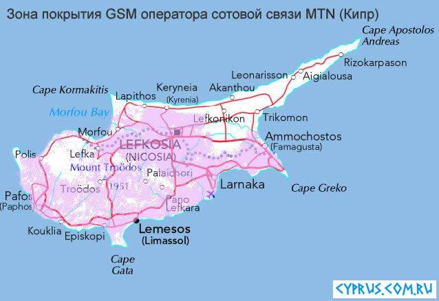 Мобильная связь на Кипре